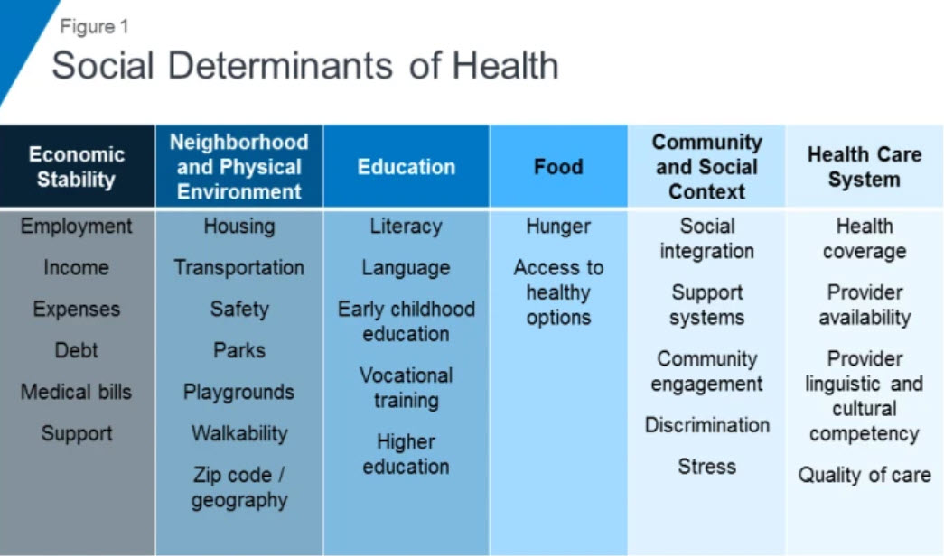 Social Determinants of Health Table
